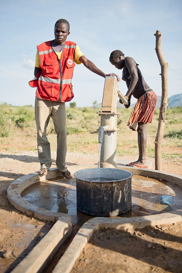 <p>A well donated by the Red Cross in Karamoja, Uganda</p>